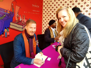 Me going all fan-girl on Pulitzer Prize winning author, Andrew Sean Greer, at the Jaipur Literary Festival.